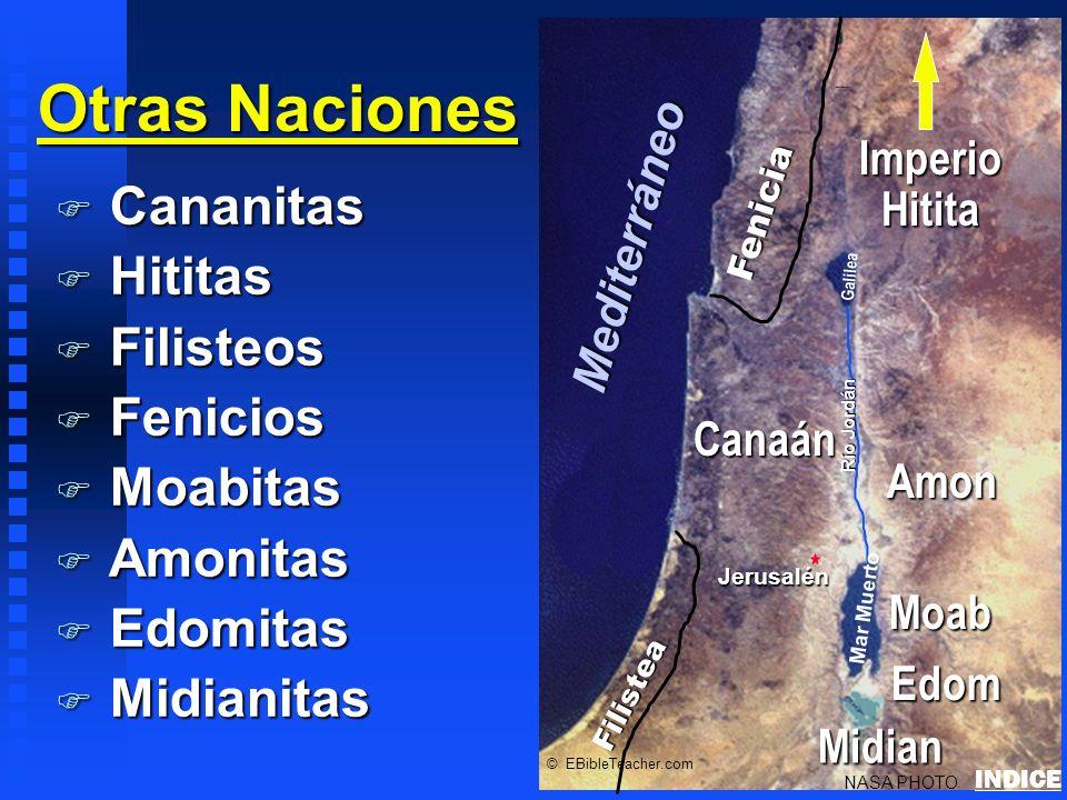 Otras Naciones Cananitas Hititas Filisteos Fenicios Moabitas Amonitas