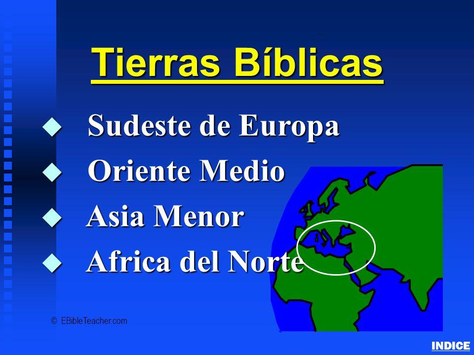 Tierras Bíblicas Sudeste de Europa Oriente Medio Asia Menor