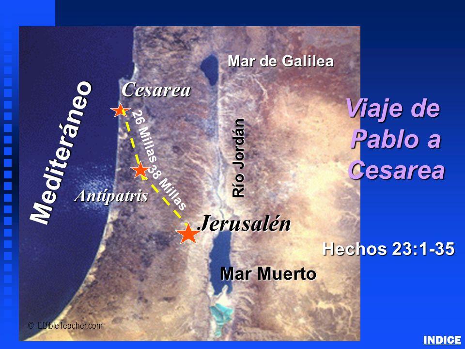 Viaje de Pablo a Cesarea
