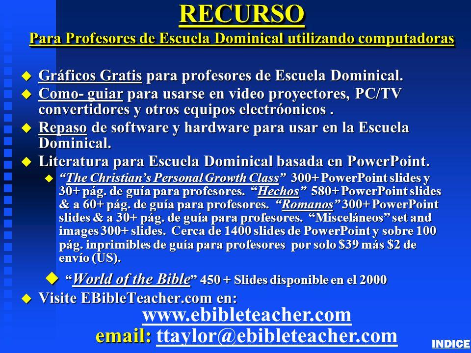 RECURSO Para Profesores de Escuela Dominical utilizando computadoras