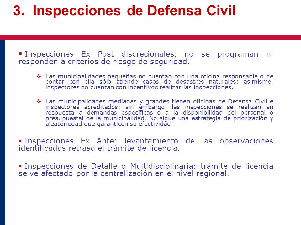 3. Inspecciones de Defensa Civil