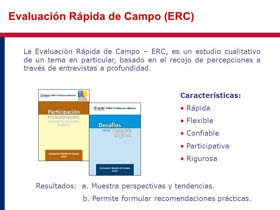 Evaluación Rápida de Campo (ERC)