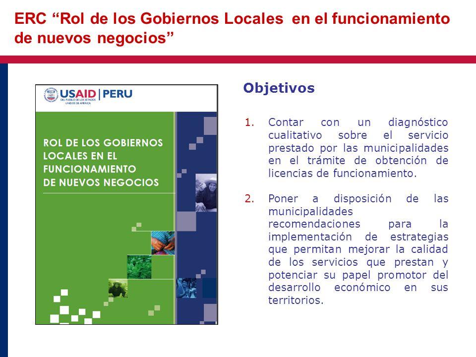 ERC Rol de los Gobiernos Locales en el funcionamiento de nuevos negocios