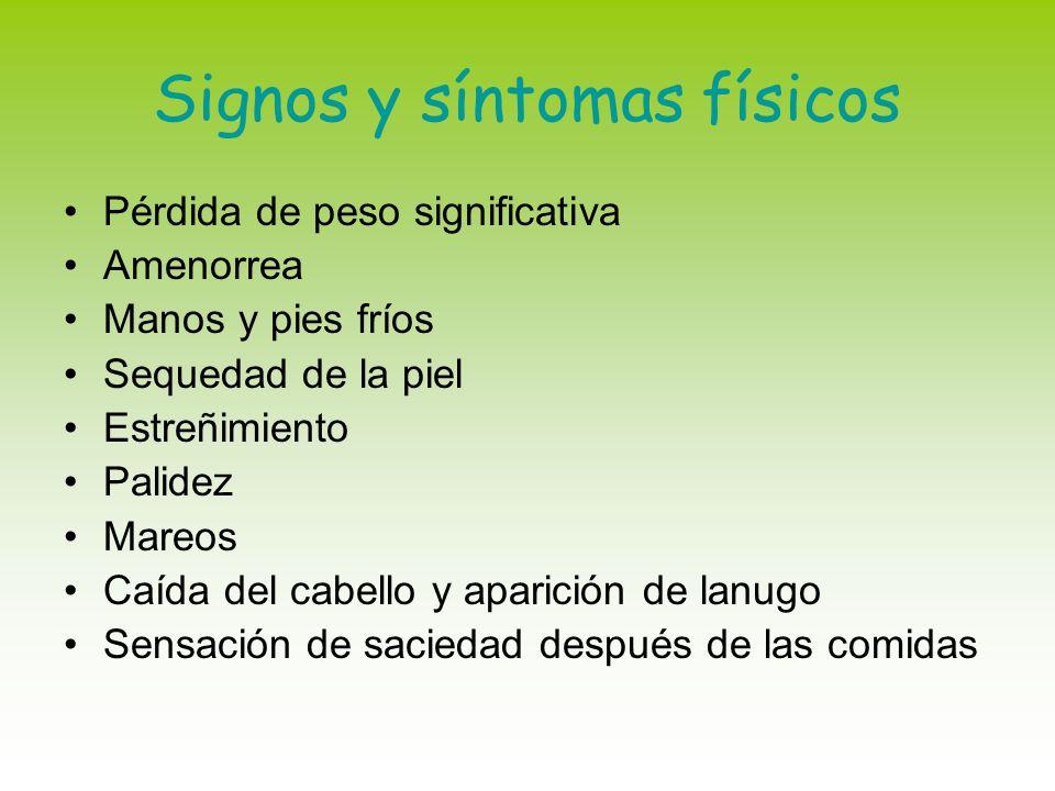 Signos y síntomas físicos