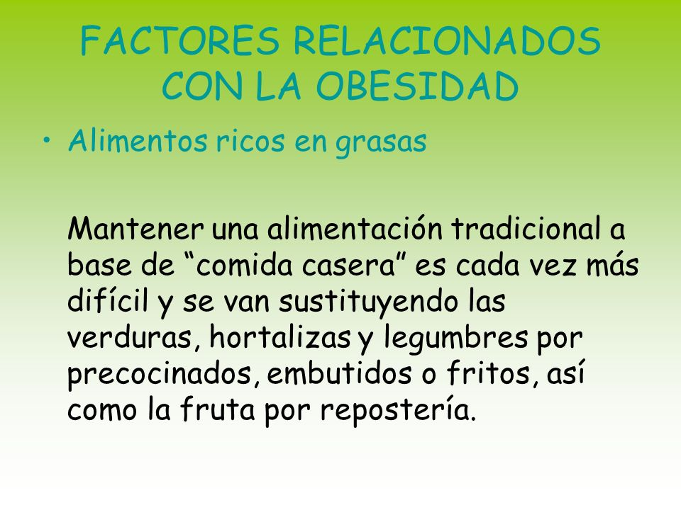 FACTORES RELACIONADOS CON LA OBESIDAD