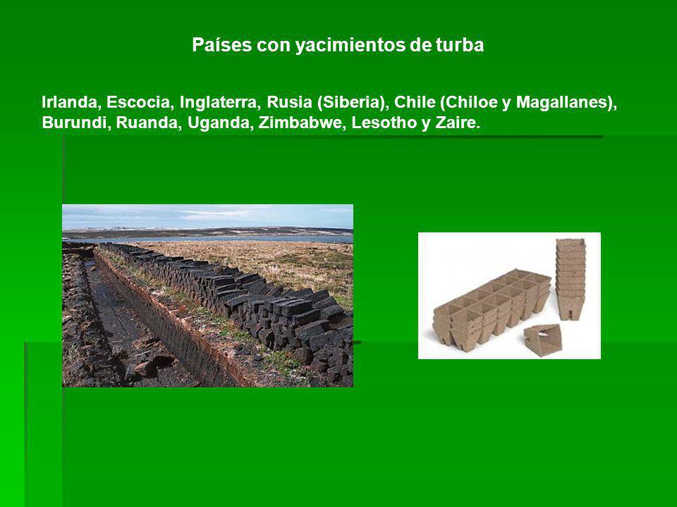 Países con yacimientos de turba