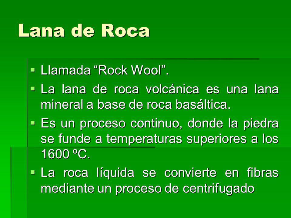 Lana de Roca Llamada Rock Wool .