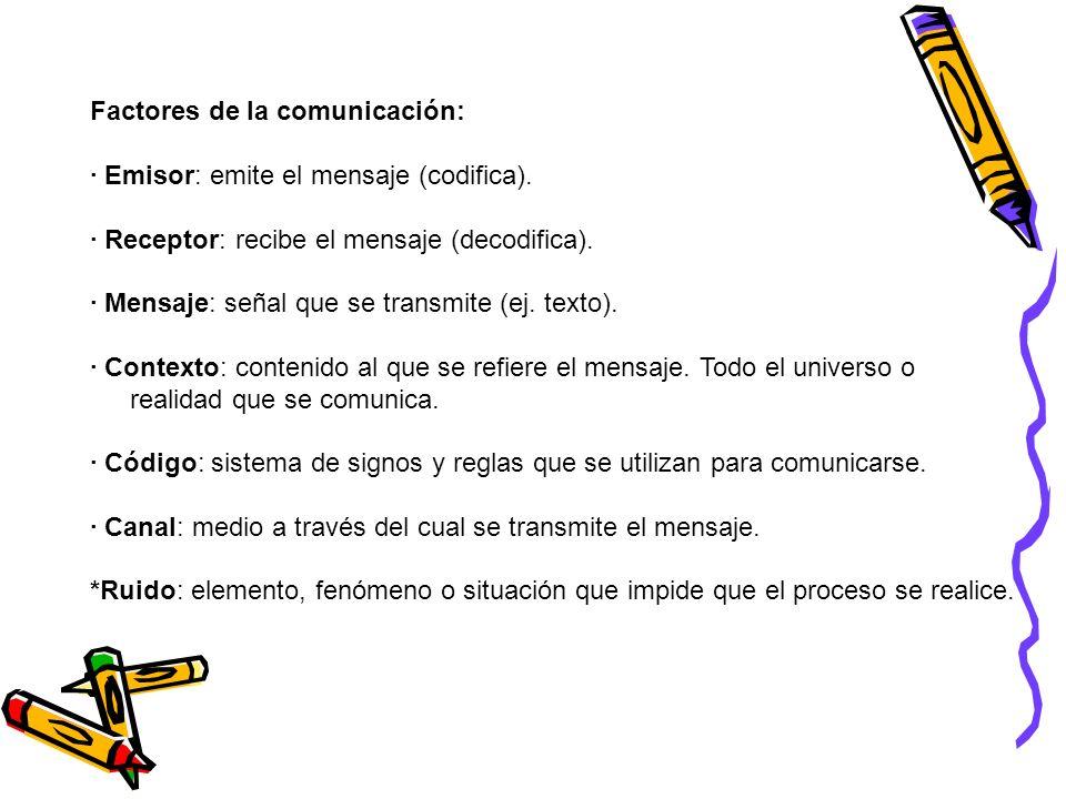 Factores de la comunicación: