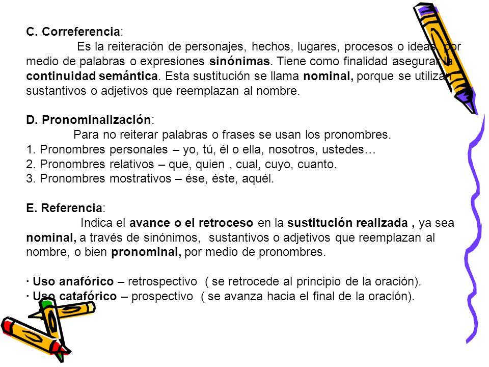C. Correferencia: