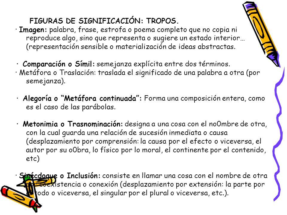 FIGURAS DE SIGNIFICACIÓN: TROPOS.