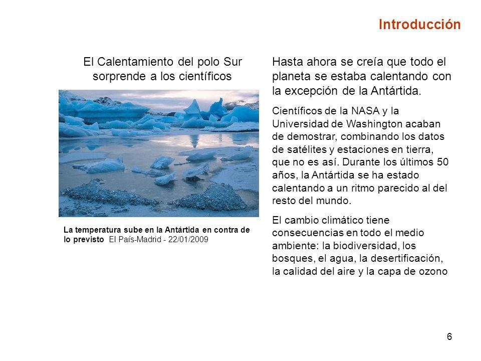 El Calentamiento del polo Sur sorprende a los científicos