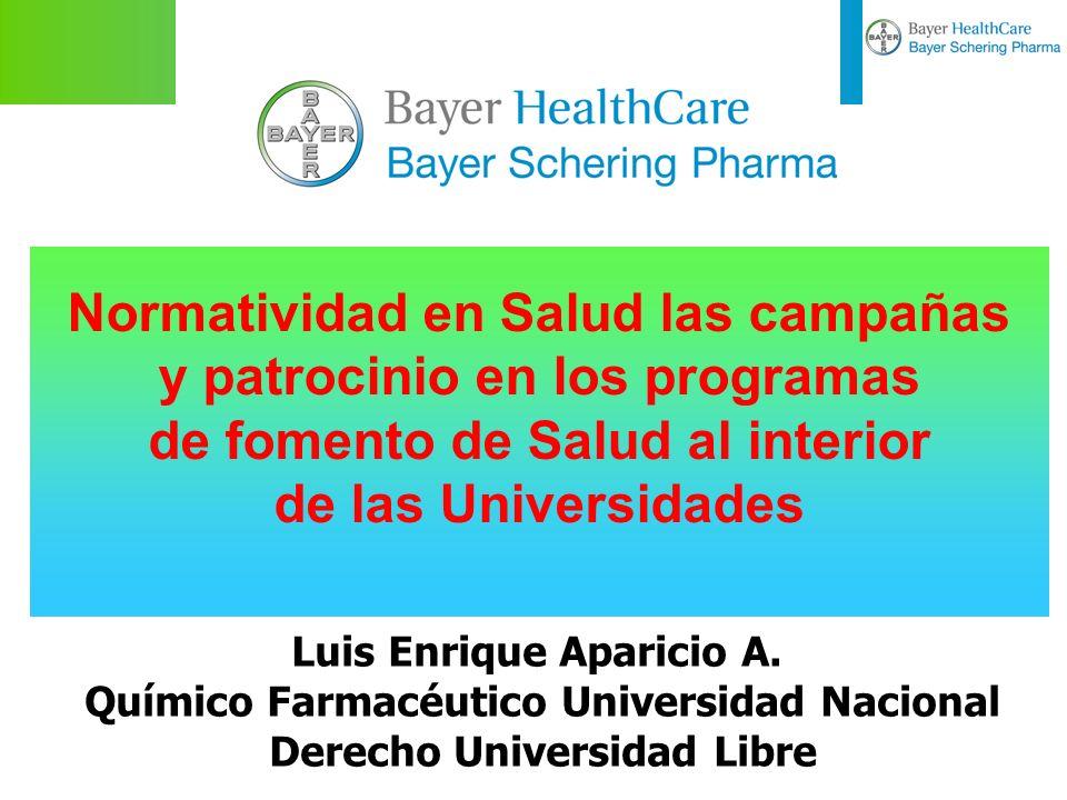 Normatividad en Salud las campañas y patrocinio en los programas