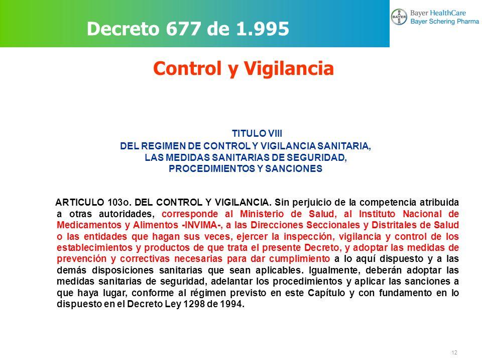 Decreto 677 de 1.995 Control y Vigilancia