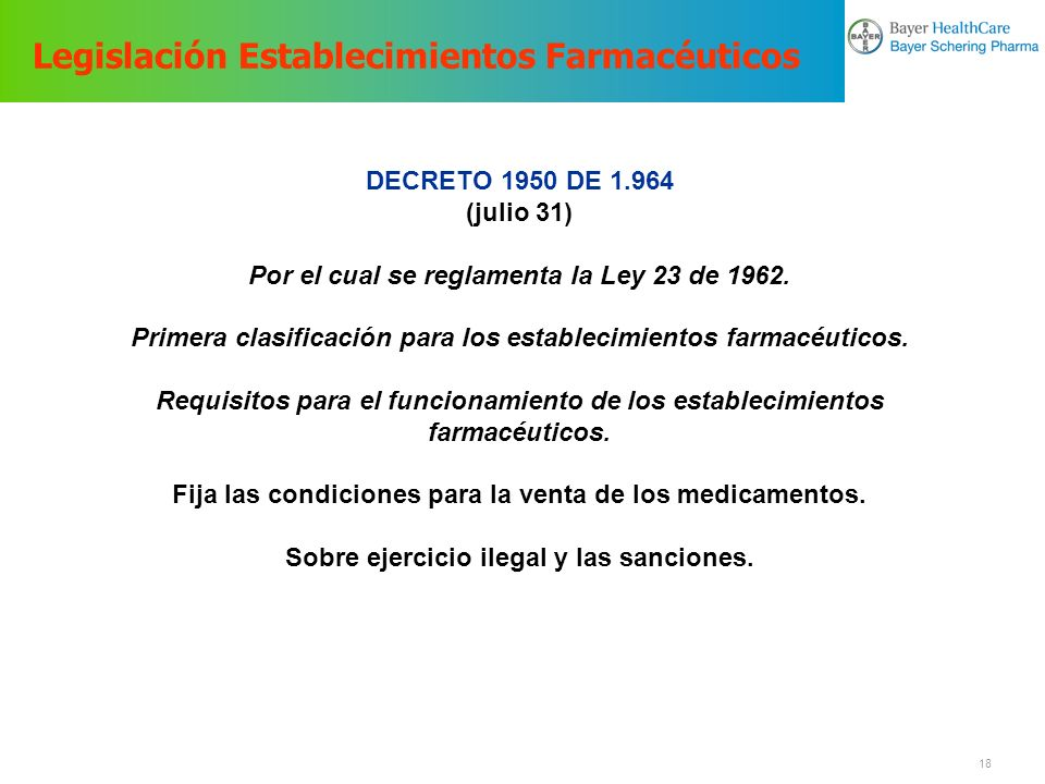 Legislación Establecimientos Farmacéuticos