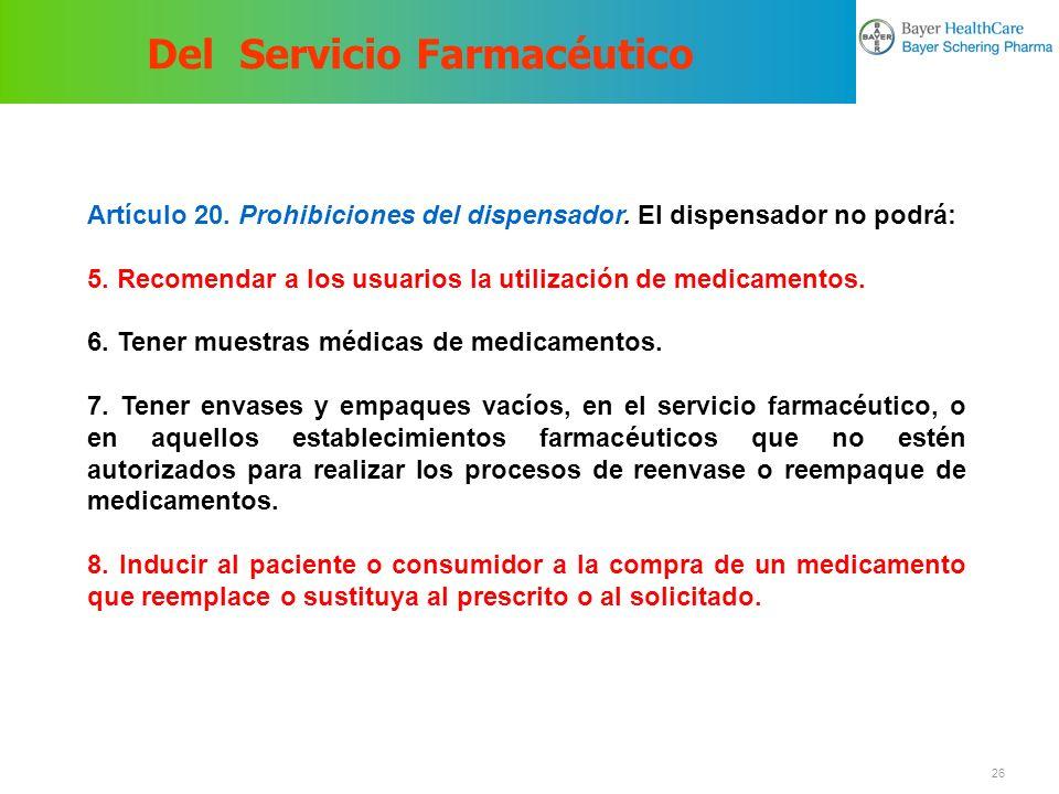 Del Servicio Farmacéutico