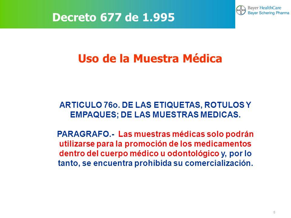 Uso de la Muestra Médica