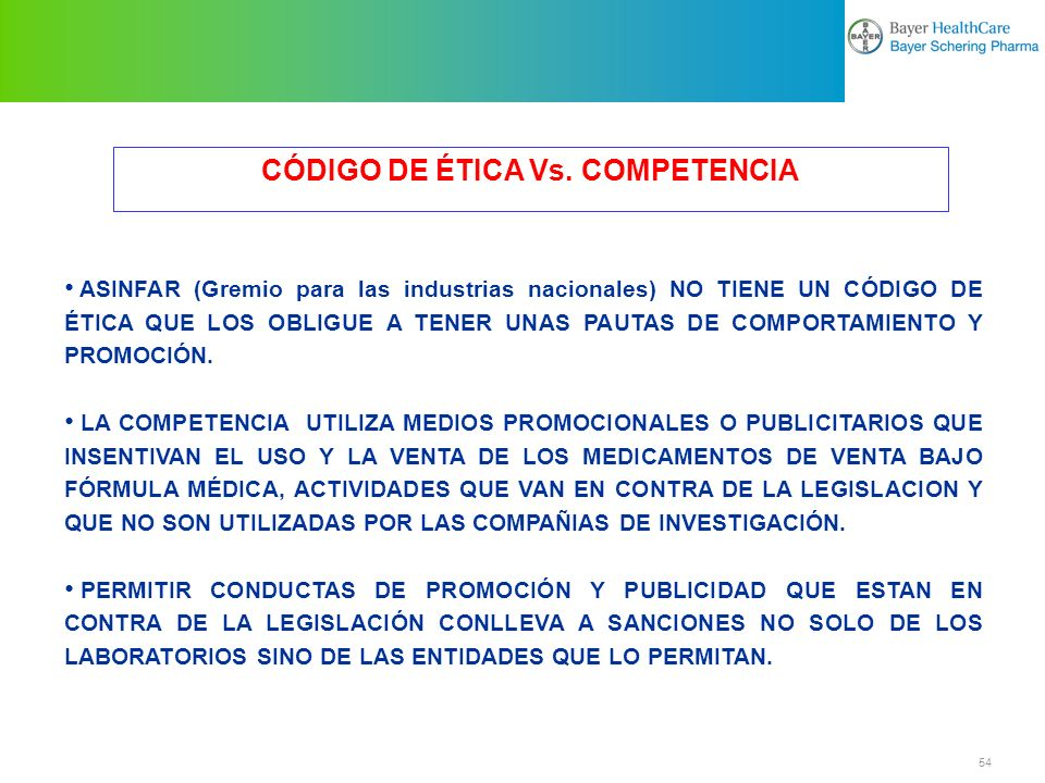 CÓDIGO DE ÉTICA Vs. COMPETENCIA