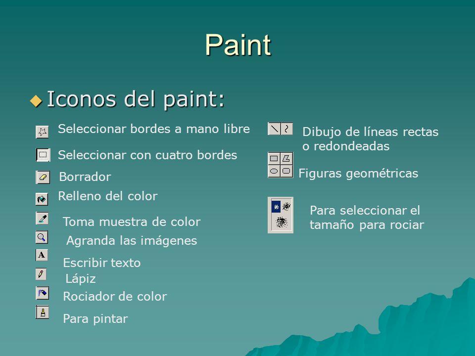 Paint Iconos del paint: Seleccionar bordes a mano libre