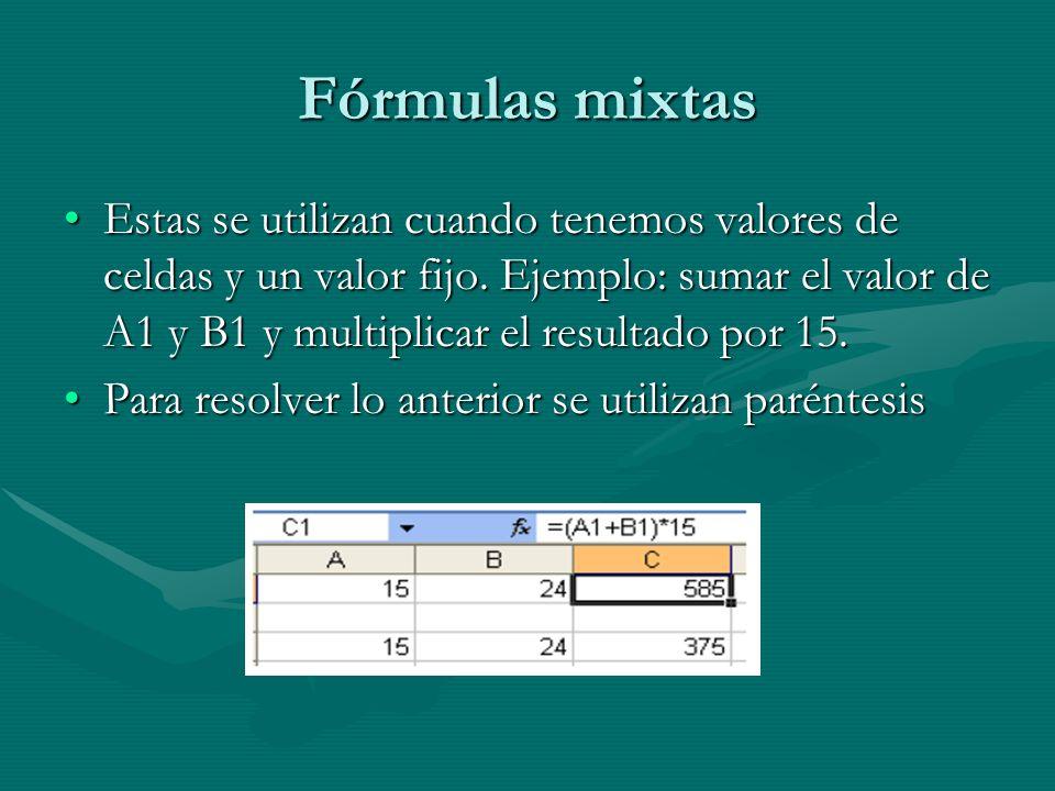 Fórmulas mixtas