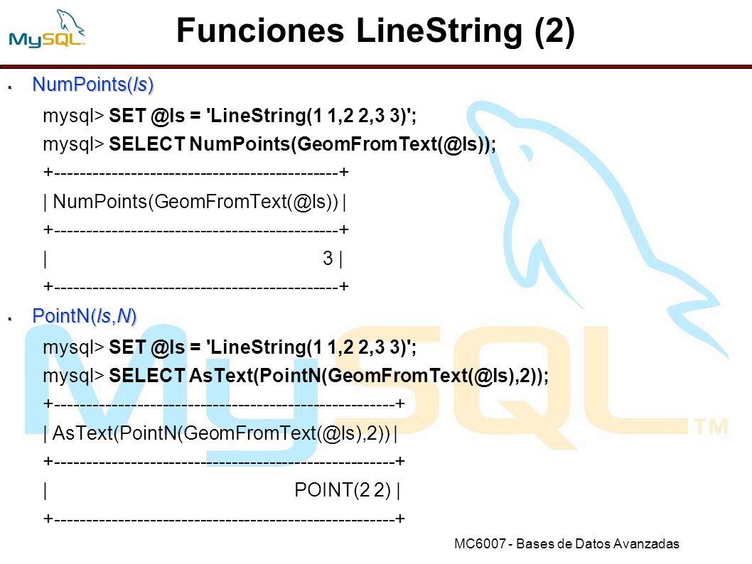 Funciones LineString (2)
