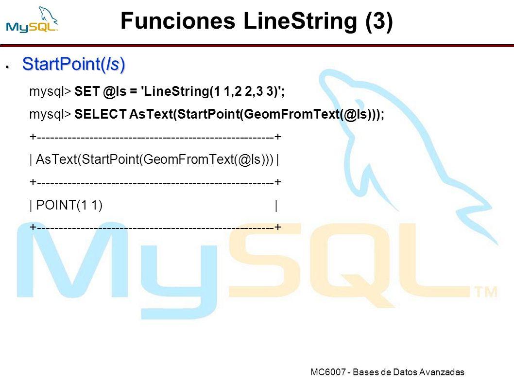 Funciones LineString (3)