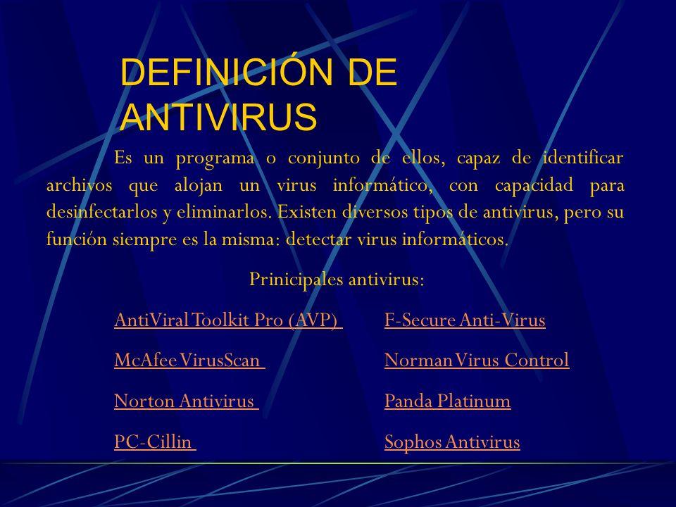 DEFINICIÓN DE ANTIVIRUS