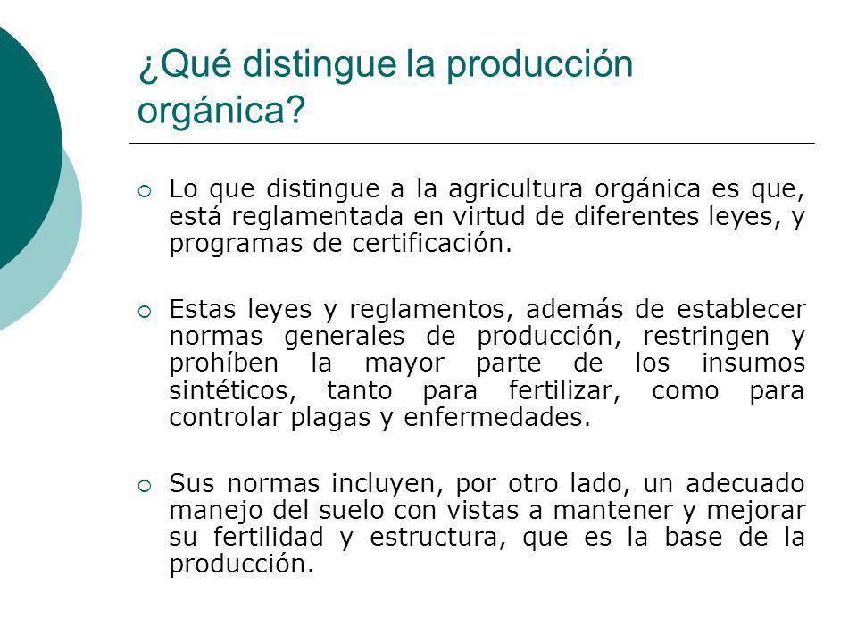 ¿Qué distingue la producción orgánica
