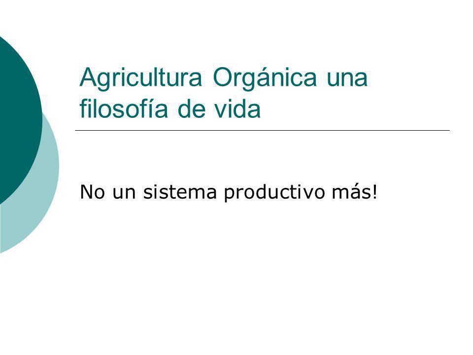 Agricultura Orgánica una filosofía de vida