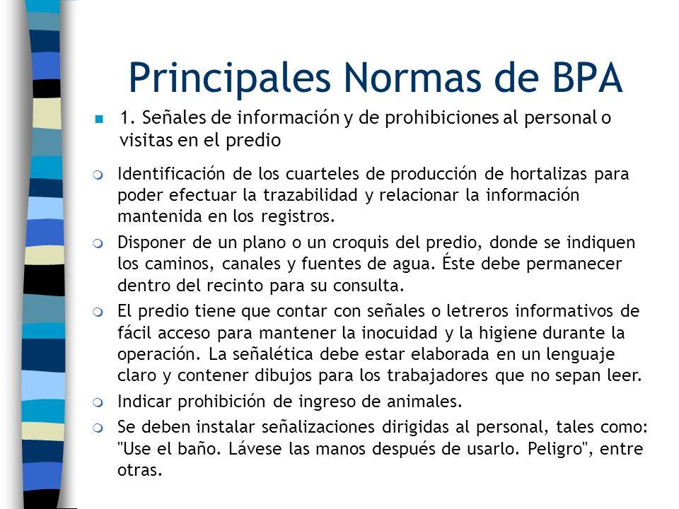 Principales Normas de BPA