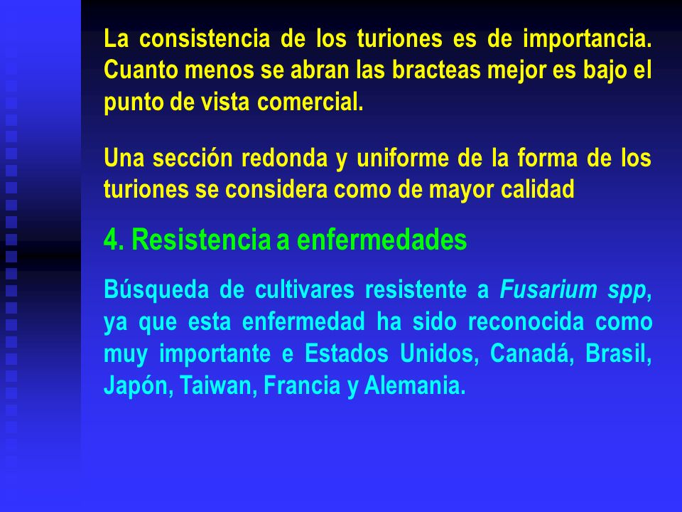 4. Resistencia a enfermedades