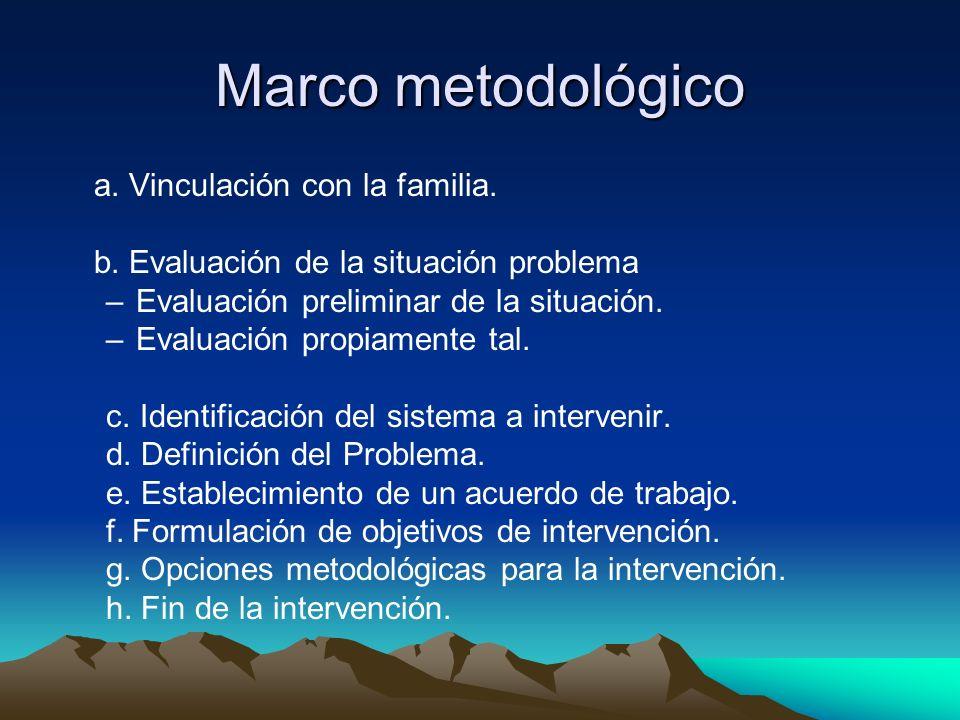 Marco metodológico b. Evaluación de la situación problema