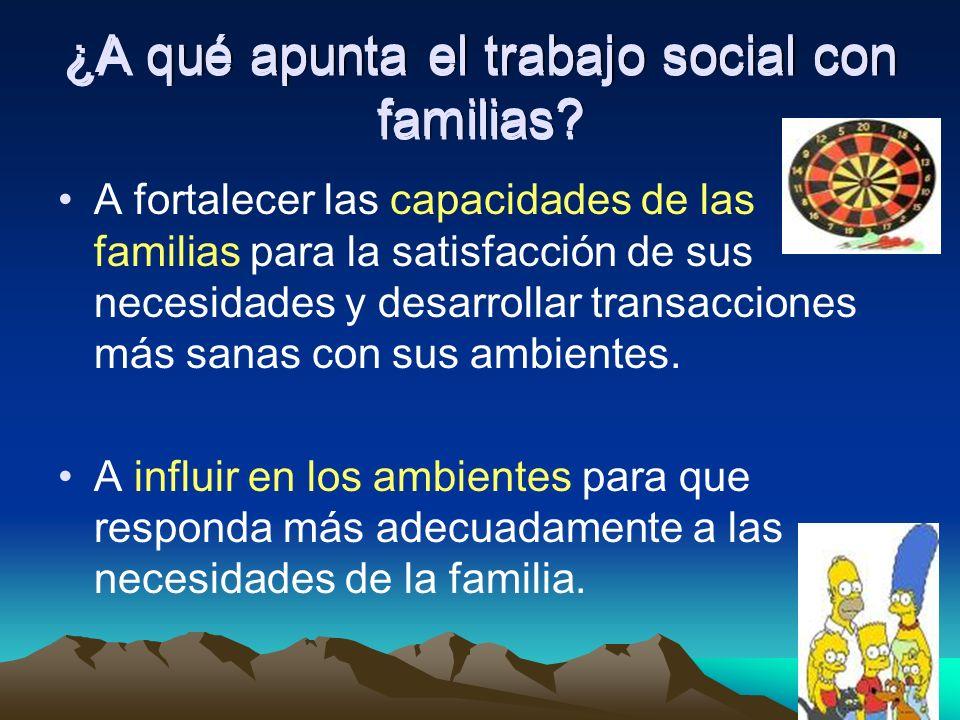 ¿A qué apunta el trabajo social con familias