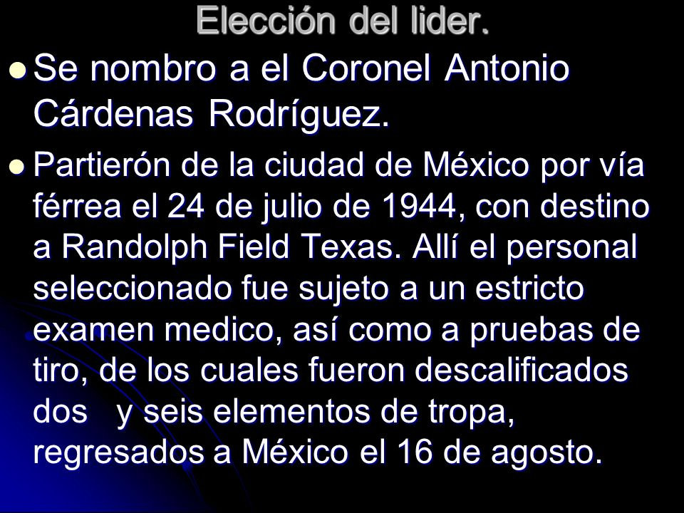 Se nombro a el Coronel Antonio Cárdenas Rodríguez.