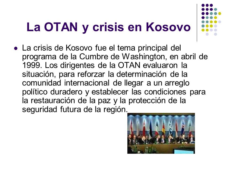 La OTAN y crisis en Kosovo
