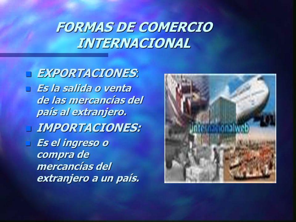 FORMAS DE COMERCIO INTERNACIONAL
