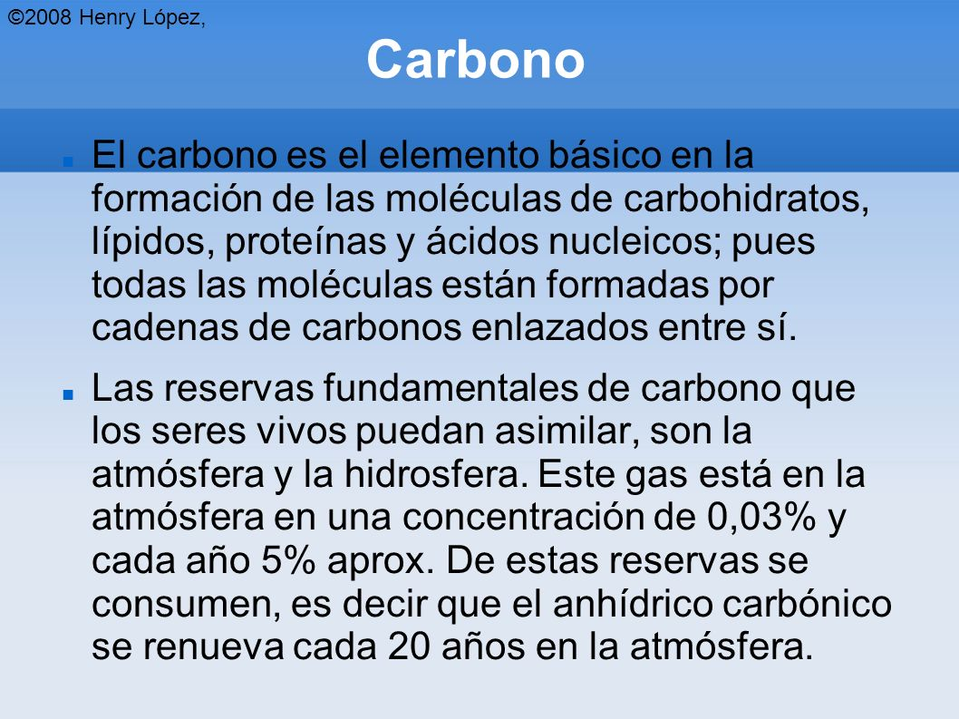 ©2008 Henry López, Carbono.