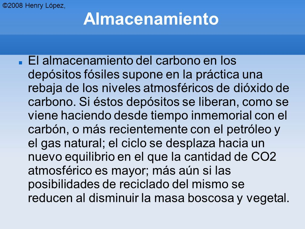 ©2008 Henry López, Almacenamiento.