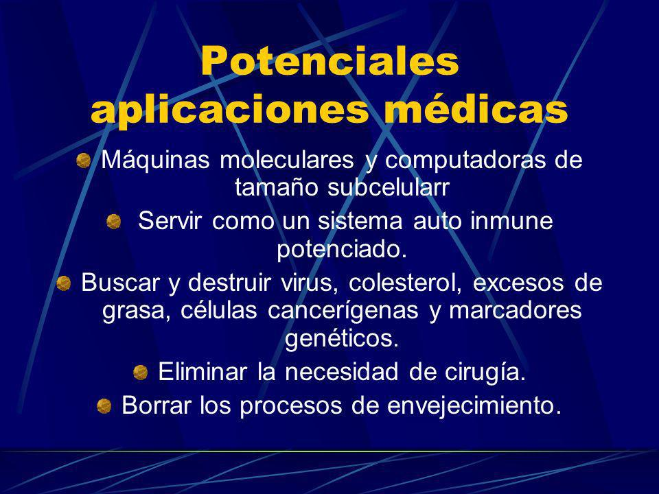 Potenciales aplicaciones médicas