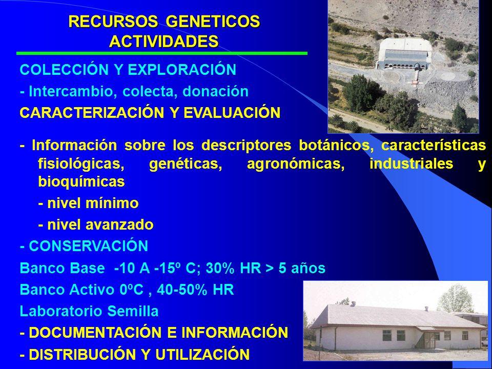 RECURSOS GENETICOS ACTIVIDADES
