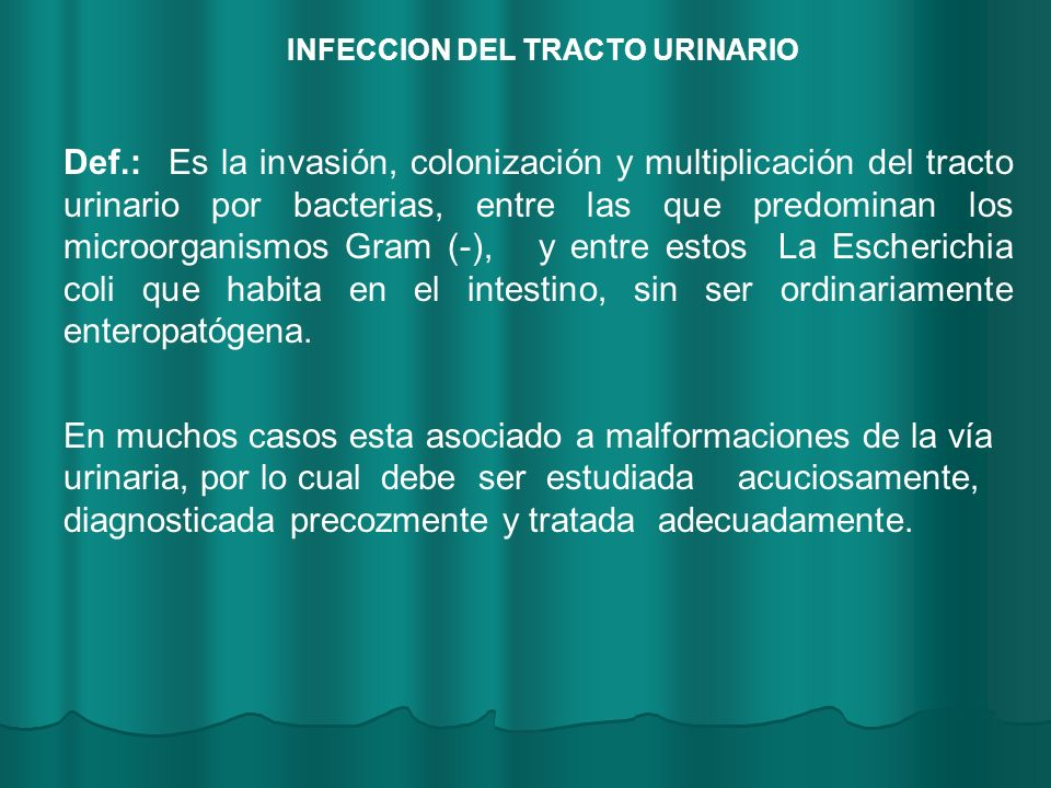 INFECCION DEL TRACTO URINARIO