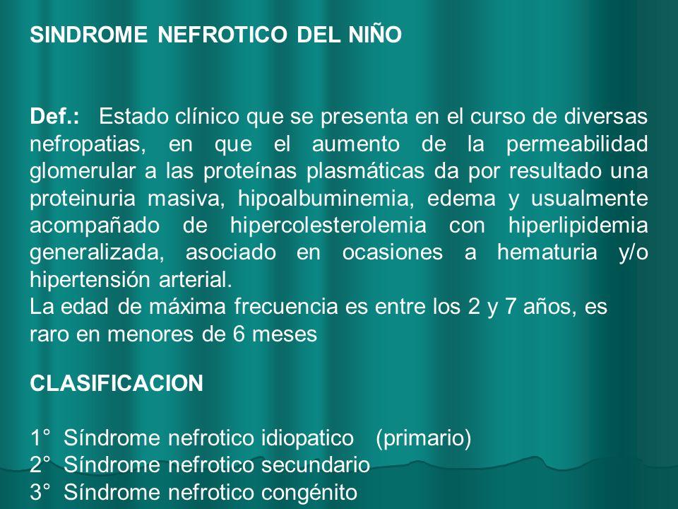 SINDROME NEFROTICO DEL NIÑO