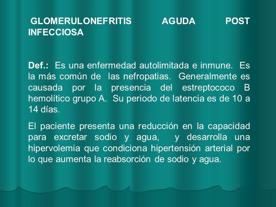 GLOMERULONEFRITIS AGUDA POST INFECCIOSA