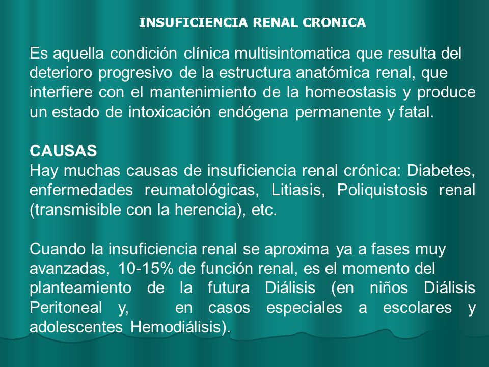 INSUFICIENCIA RENAL CRONICA