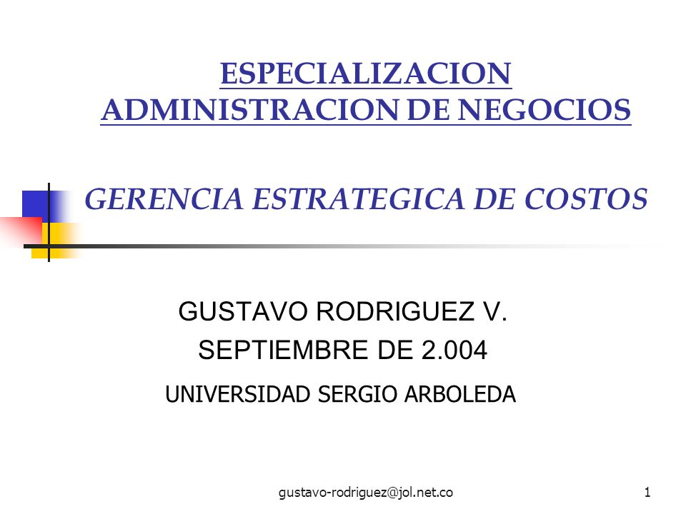 GUSTAVO RODRIGUEZ V. SEPTIEMBRE DE 2.004