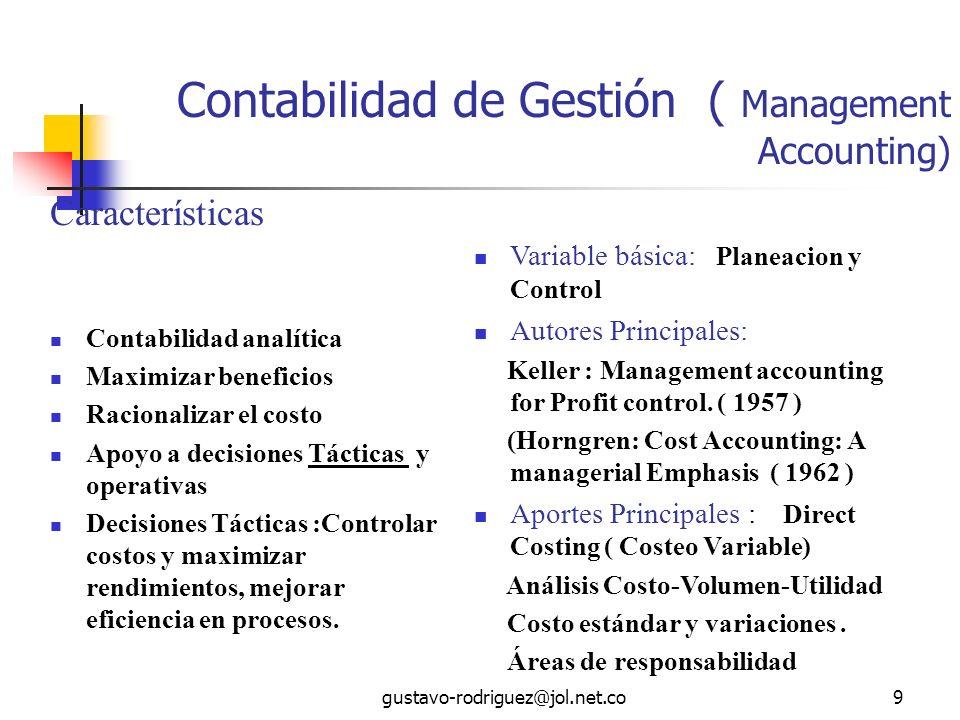 Contabilidad de Gestión ( Management Accounting)