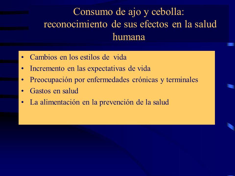 Consumo de ajo y cebolla: reconocimiento de sus efectos en la salud humana