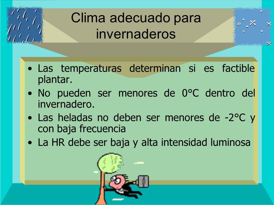 Clima adecuado para invernaderos