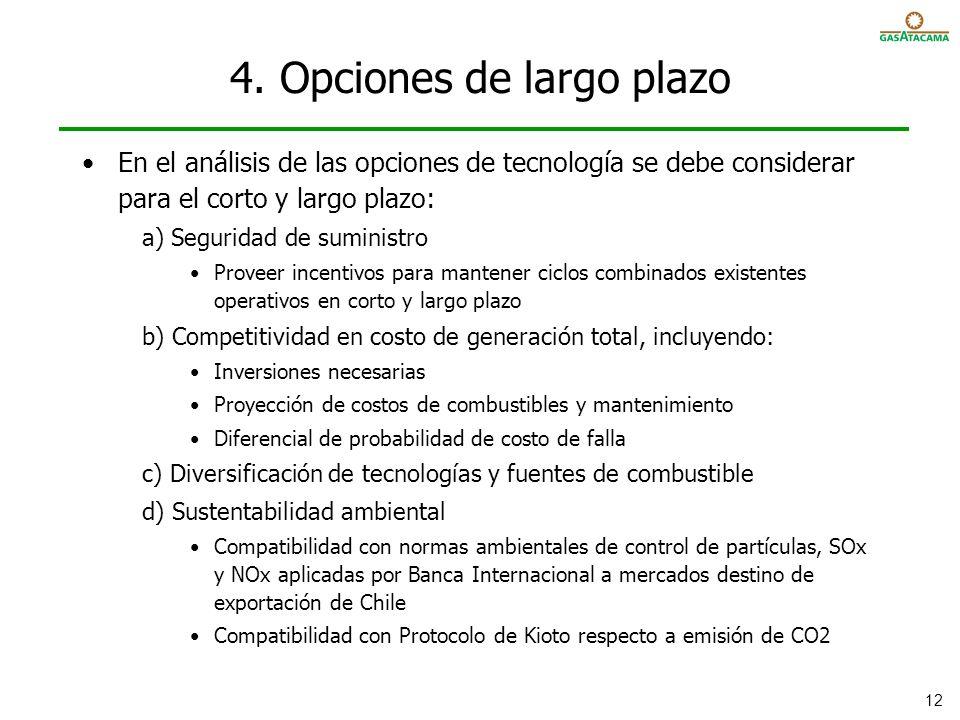 4. Opciones de largo plazo