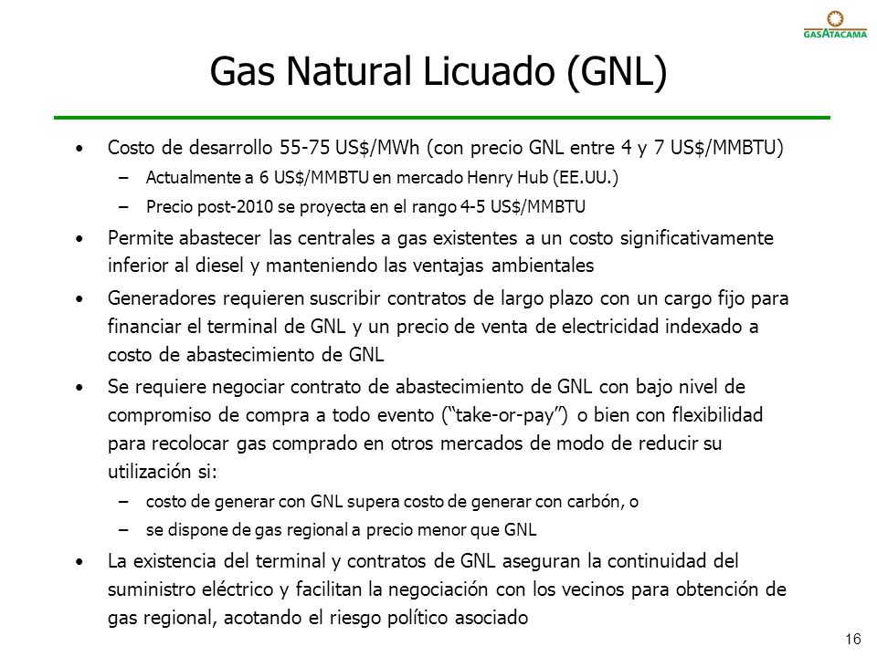 Gas Natural Licuado (GNL)