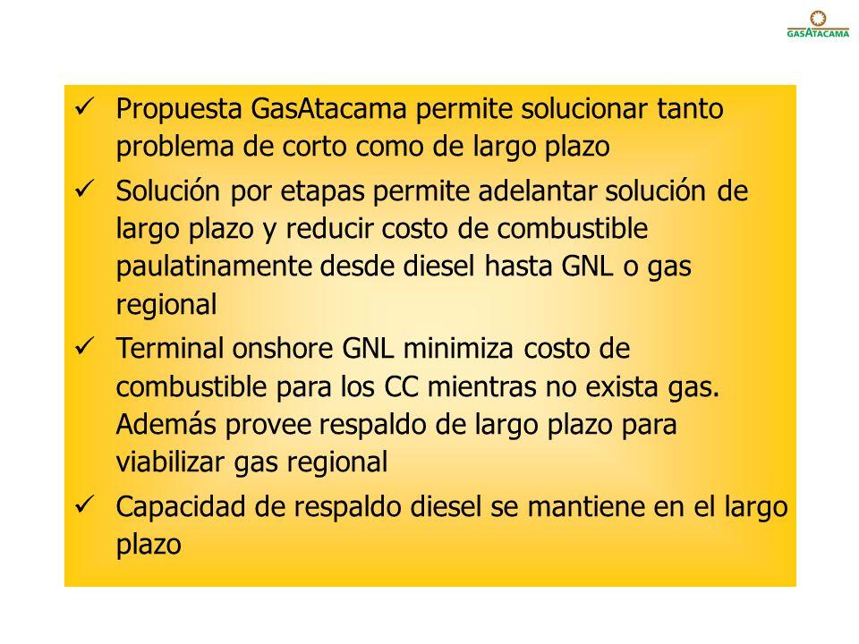 Propuesta GasAtacama permite solucionar tanto problema de corto como de largo plazo
